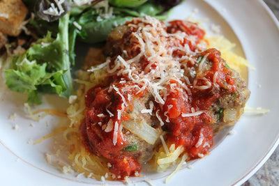 ITALIAN SPAGHETTI SQUASH AND MEATBALLS