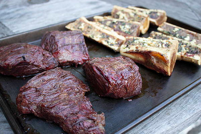 GRILLED STEAK & BONE MARROW