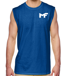 Royal Blue Muscle Tank - Logo White