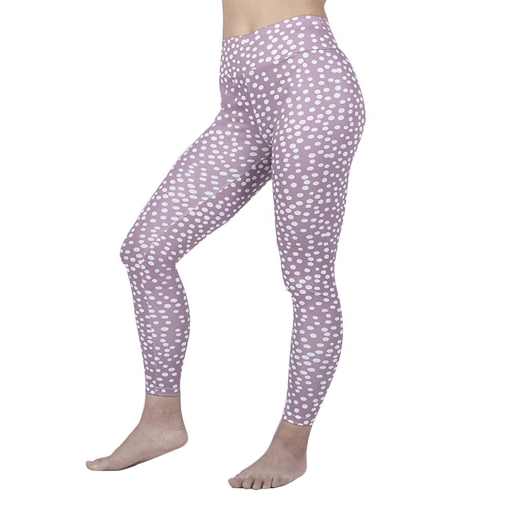 Dotted Print Active Leggings