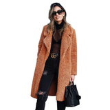 Chic Borg Wide Collar Coat