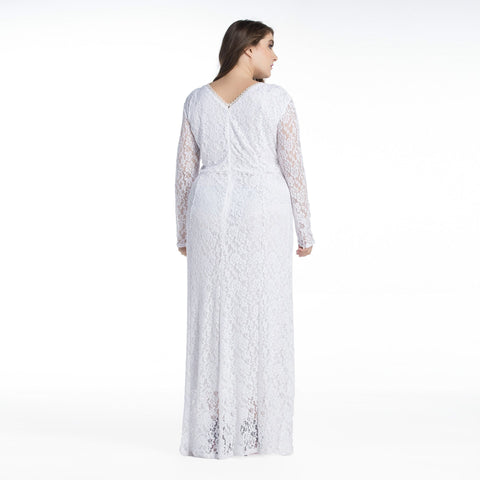 Ladies Plus Size Lace Maxi dress
