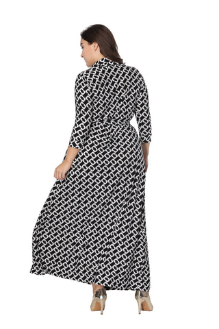 Ladies Plus Size Mid Tie  Maxi Dress