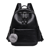 Unisex Wet Look Backpack with Keychain