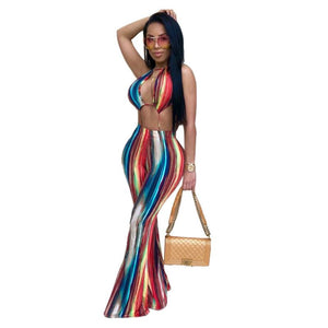 Cut Out Strap Wide Leg Jumpsuit