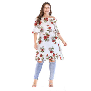 Ladies Plus Size Floral Wrap Dress