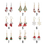 5 Pairs Set Christmas Earrings