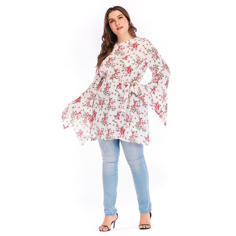 Ladies Plus Size Kimono Sleeve Day Dress