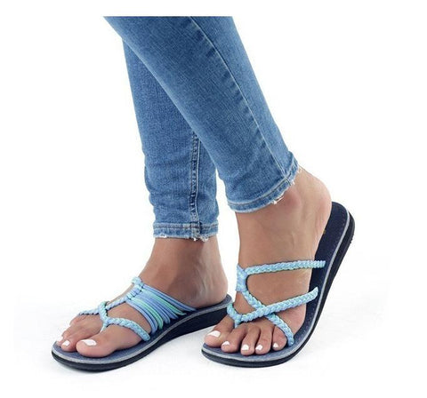 Spring gladiator slip on sandal