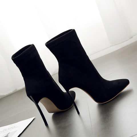 Image of Stiletto heel sock boot