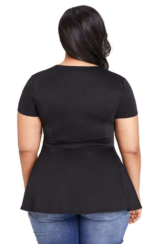Image of Black Plus Size Caged Top