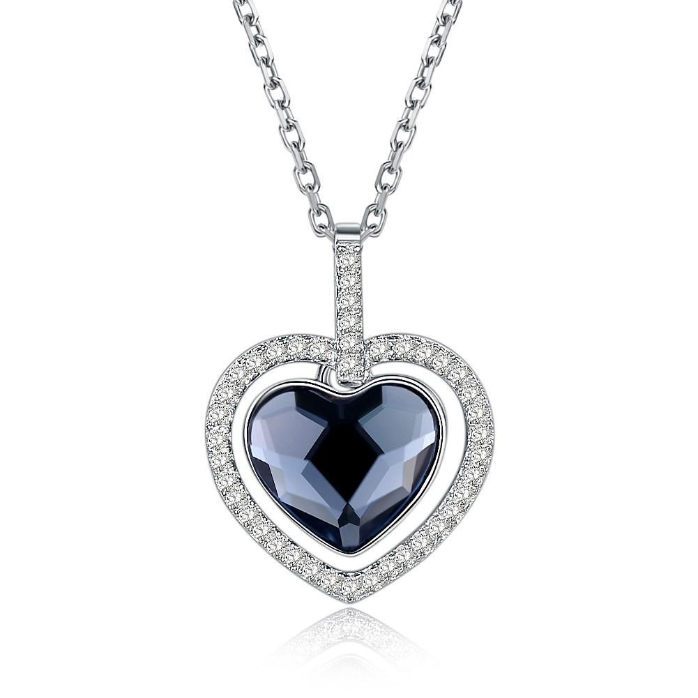 Heart Shaped Elements Fashion Sterling Silver Necklace