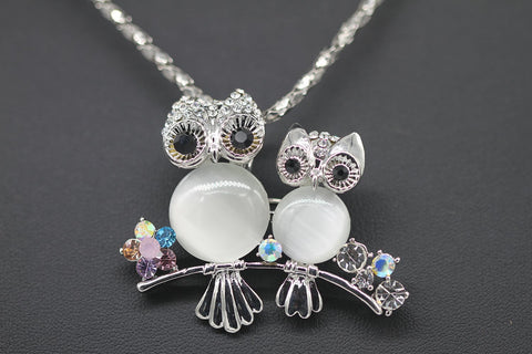 Image of Unique Amazing Owl Pendant Necklace