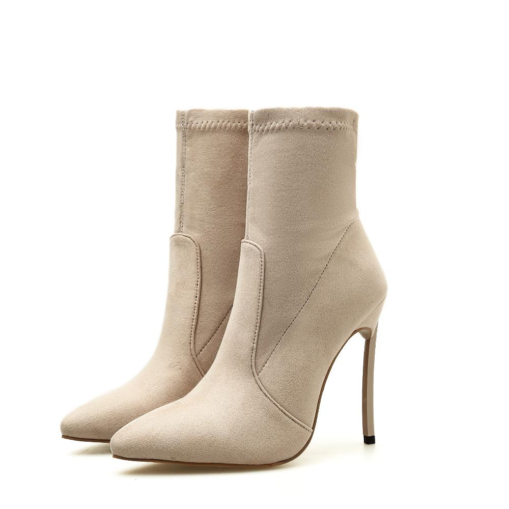 Stiletto heel sock boot