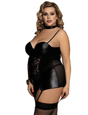 Erotic Black Plus Size Babydoll Set
