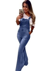 Denim Flared Leg Jumpsuit