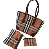 Plaid Tote Handbag