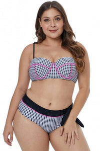 Ladies Plus Size Triangle Bikini Set