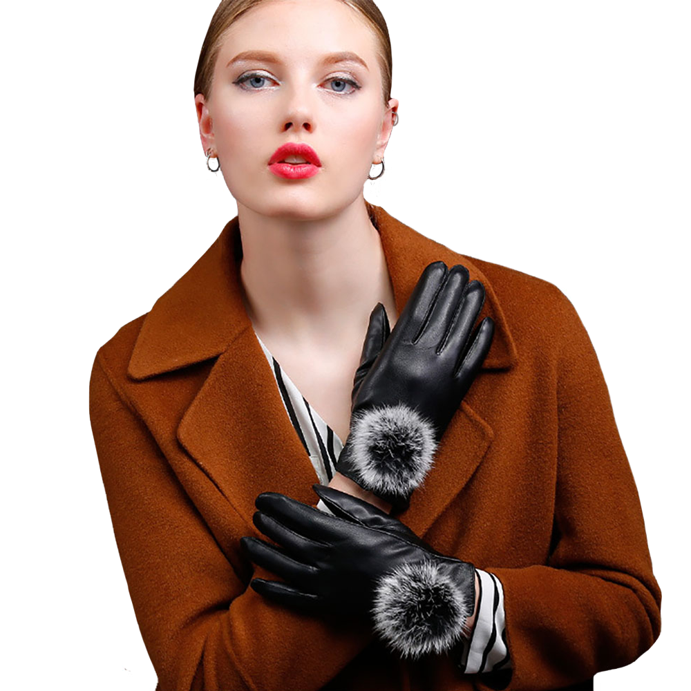 Wetlook Gloves with Large Pom Pom