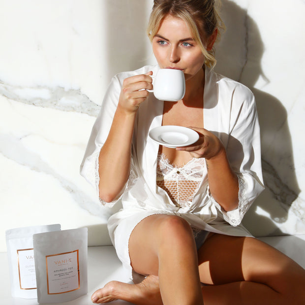 Perfect Tea Bundle - Aphrodi-Tea - Balancing Collagen Beauty Tea + Glowgetter - Detox Collagen Beauty Tea + FREE Lumiere Collagen Beauty Mist (SAVE $37.95)