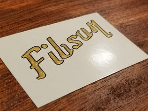 Fibson Waterslide Decal for Guitar or Bass. Gibson Style. Metallic Color Fills. Hand Painted