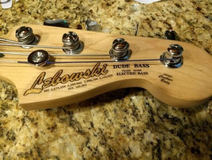 Fender Style Custom Waterslide Headstock Decals For Guitar and Bass. Metallic Fills.