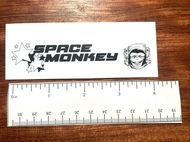 Space Monkey Custom Waterslide Decal for Headstock. Black Only