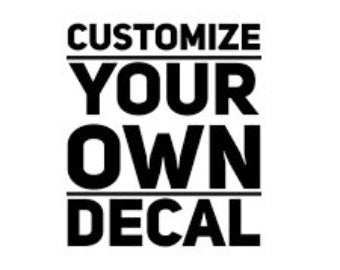 Create your own Black Custom Waterslide Headstock Decals for Guitar and Bass