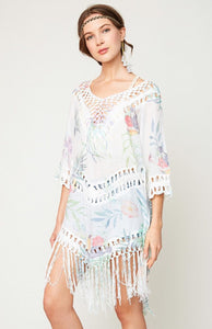 Crochet Fringe Beach Tunic
