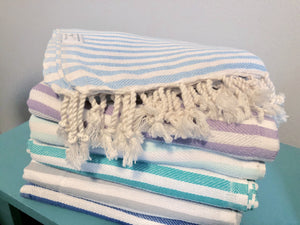 Candy Stripe Turkish Towel, 6 colors available