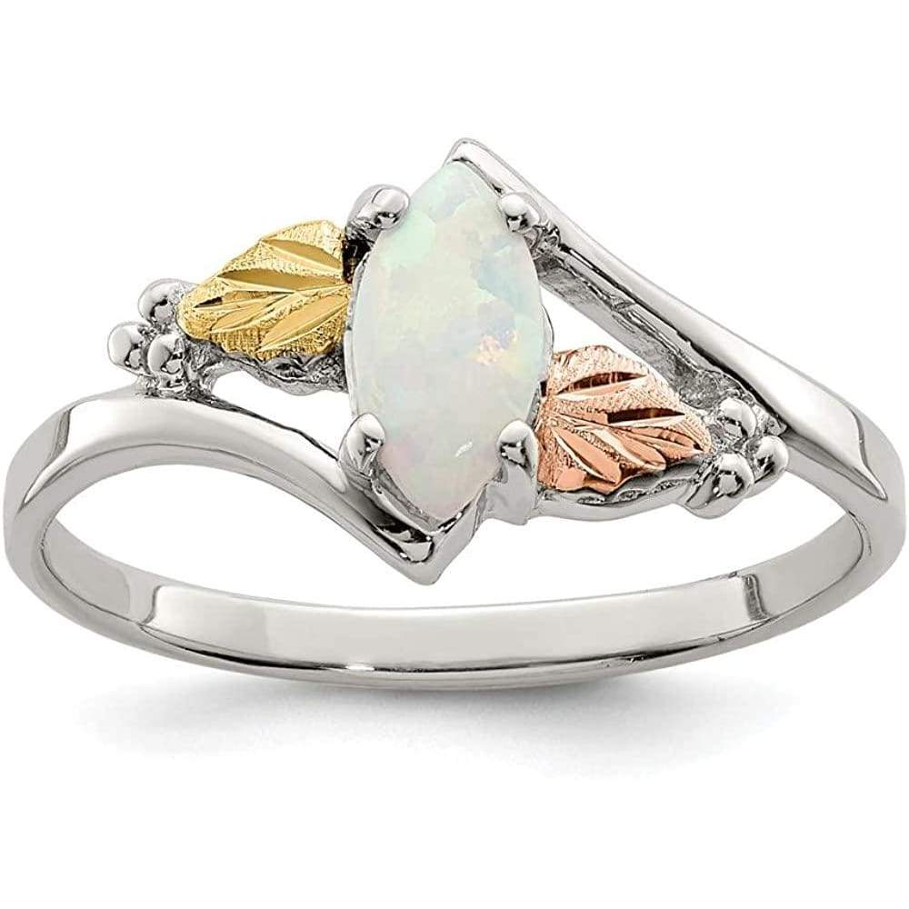 925 Sterling Silver 12k Created Opal Band Ring Gemstone Fine Jewelry For Women Gift Set Clothing Shoes & Jewelry Gloria's Accessory Heaven