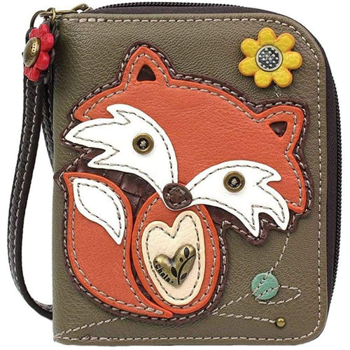 Chala Fox Zip-Around Wallet/Wristlet Gift for Fox Lovers Clothing Shoes & Jewelry Gloria's Accessory Heaven