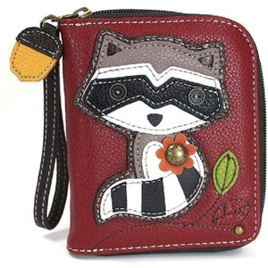 CHALA Handbags- Zip Around Wallet Wristlet 8 Credit Card Slots Sturdy Coin Purse for women Gloria's Accessory Heaven