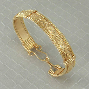 Handmade 14k Gold Bangle Bracelet Wire Wrapped Jewelry Custom Order Handmade Products Gloria's Accessory Heaven