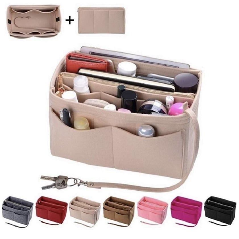 Purse Organizer Insert Felt Bag organizer Gloria's Accessory Heaven