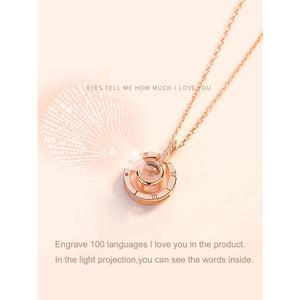 Round Pendant Light Projection Chain Necklace Women - Jewelry - Necklaces Glorias Accessory Heaven