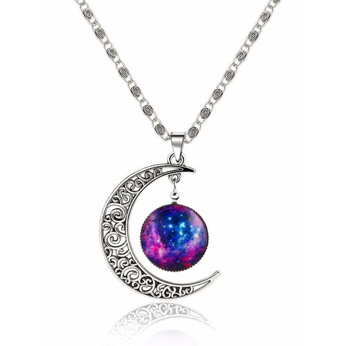 Silver Sun Moon Pendant Necklace Women - Jewelry - Necklaces Glorias Accessory Heaven