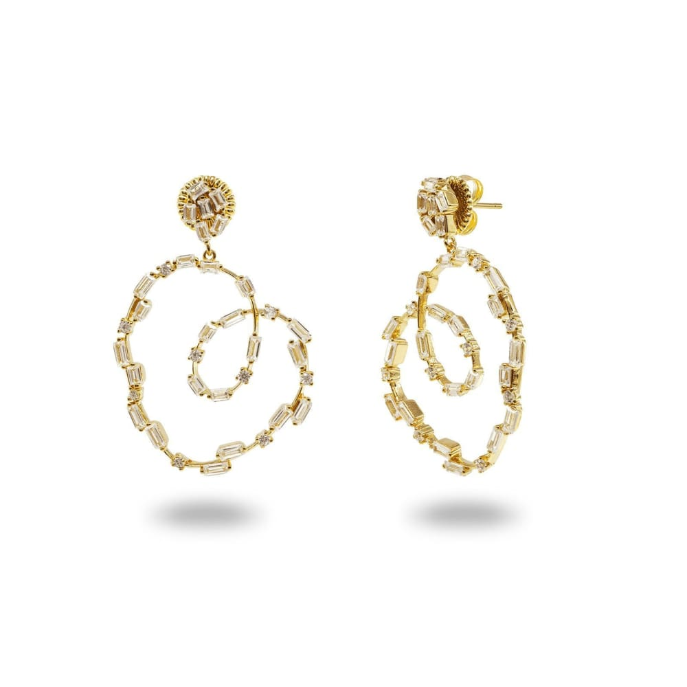 Sparkling CZ Spirals Women - Jewelry - Earrings Glorias Accessory Heaven