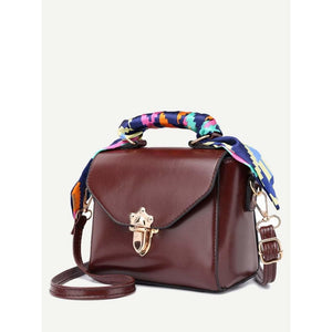 Twilly Scarf Push Lock Shoulder Bag Women - Bags - Shoulder Bags Glorias Accessory Heaven