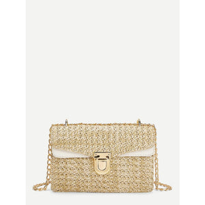 Weave Detail Chain Crossbody Bag Women - Handbags- Wallets Glorias Accessory Heaven