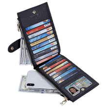 Womens Walllet RFID Blocking Bifold Multi Card Case Wallet with Zipper Pocket Gloria's Accessory Heaven