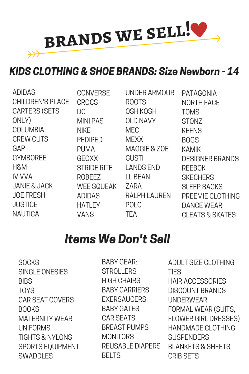 consignment childrens