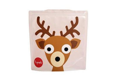 3 Sprouts Sandwich Bags, Deer (2 pack)