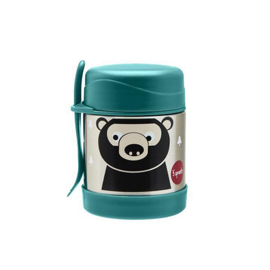 3 Sprouts Stainless Steel Food Jar, Bear