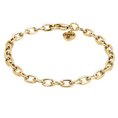 Charm It! Gold Chain Link Bracelet
