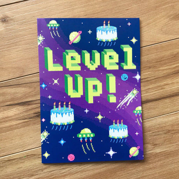 Level Up! Video Game Birthday Card