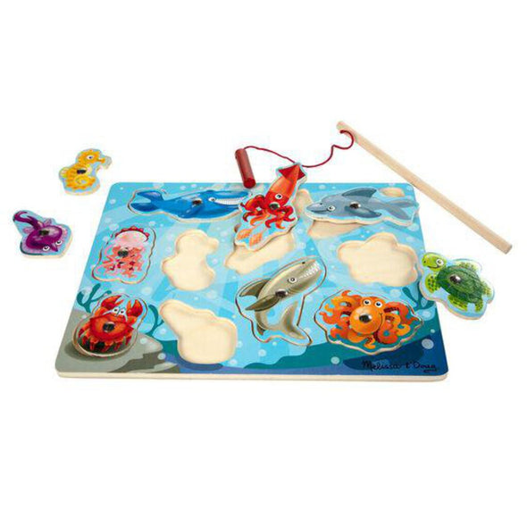 Magnetic Wooden Game, Fishing