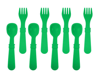 RePlay Utensils 8-pack, Kelly Green