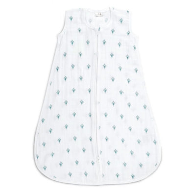 Aden & Anais Classic Sleeping Bag 1.0 TOG, Paisley Teal (Med 6-12m)