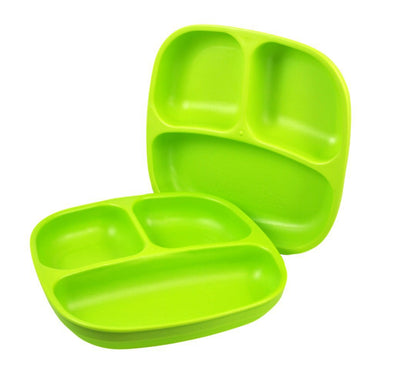 RePlay Divided Plate, Lime Green